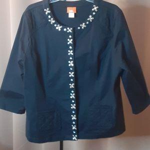 Womens Dress Casual Full Snap Crystal's JACKET 18